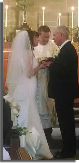 Holy Matrimony is celebrated at St. Paul's.