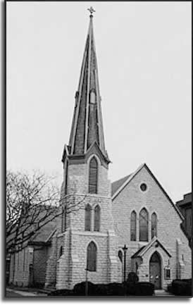 Early photo of Christ Church in Ottawa, Illinois